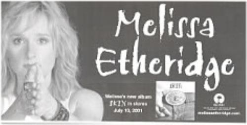 Melissa Etheridge Skin memorabilia US ETHMMSK190955
