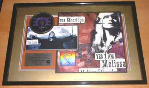 Melissa Etheridge Yes I Am award disc US ETHAWYE139833