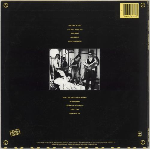 Men At Work Business As Usual + Insert vinyl LP album (LP record) Hong Kong MENLPBU711452