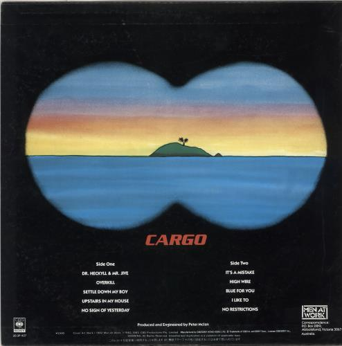 Men At Work Cargo vinyl LP album (LP record) Hong Kong MENLPCA711361