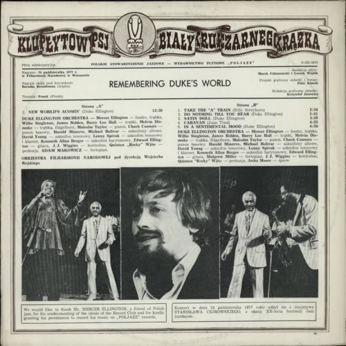 Mercer Ellington Remembering Duke's World vinyl LP album (LP record) Polish NWZLPRE587929