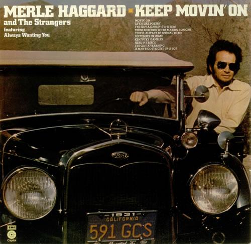 Merle Haggard Keep Movin' On vinyl LP album (LP record) UK MBJLPKE449145