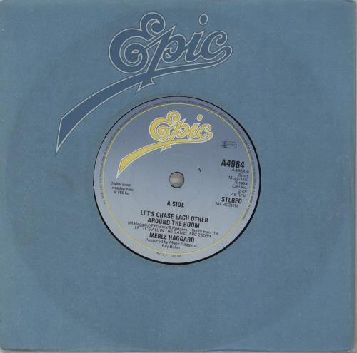 """Merle Haggard Let's Chase Each Other Around The Room 7"""" vinyl single (7 inch record) UK MBJ07LE674227"""