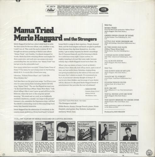 Merle Haggard Mama Tried - 1st vinyl LP album (LP record) US MBJLPMA717691