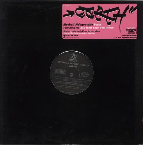 "Me'Shell Ndegeocello Earth 12"" vinyl single (12 inch record / Maxi-single) US MSL12EA734717"