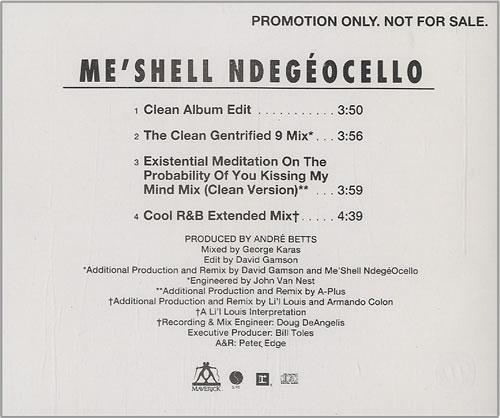 "Me'Shell Ndegeocello If That's You Boyfriend (He Wasn't Last Night) CD single (CD5 / 5"") US MSLC5IF453893"