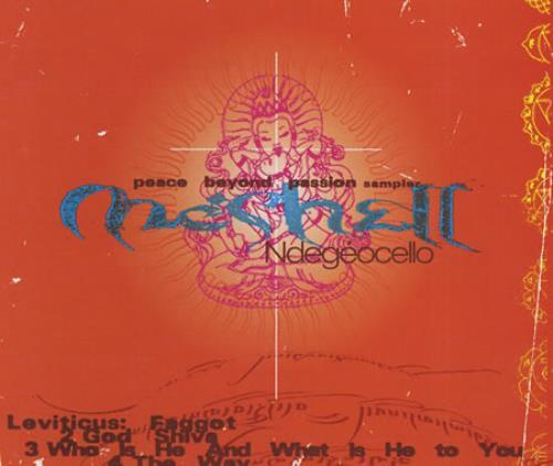 "Me'Shell Ndegeocello Peace Beyond Passion Sampler CD single (CD5 / 5"") US MSLC5PE88437"