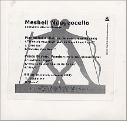 Me'Shell Ndegeocello Revised Historical Sampler CD-R acetate US MSLCRRE248355