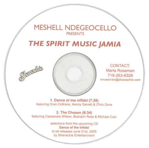 Me'Shell Ndegeocello The Spirit Music Jamia CD-R acetate US MSLCRTH529878