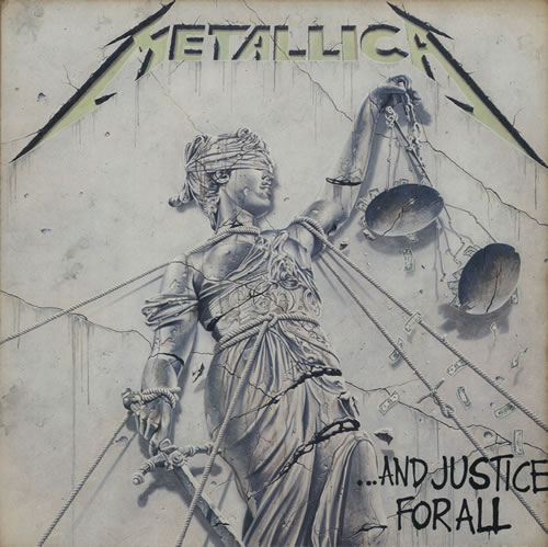 Metallica And Justice For All Inners Insert 2 LP Vinyl
