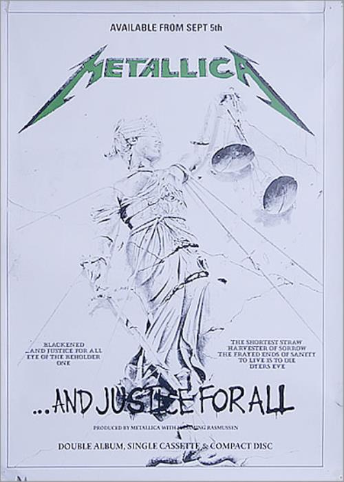 Metallica ...And Justice for All - In-Store Poster poster US METPOAN527791