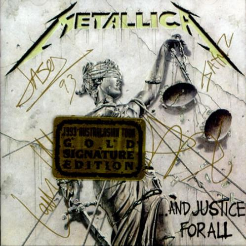 Metallica And Justice For All Sealed Australian Cd