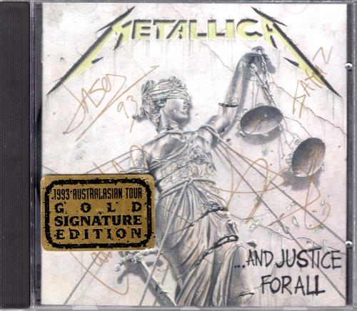 Metallica And Justice For All Signature Edition