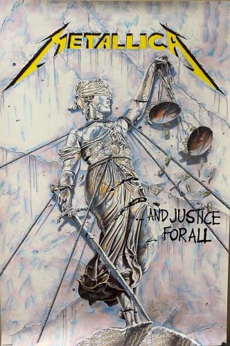 Metallica ...And Justice for All poster UK METPOAN737759
