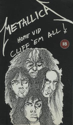 Metallica Cliff Em All video (VHS or PAL or NTSC) German METVICL02864
