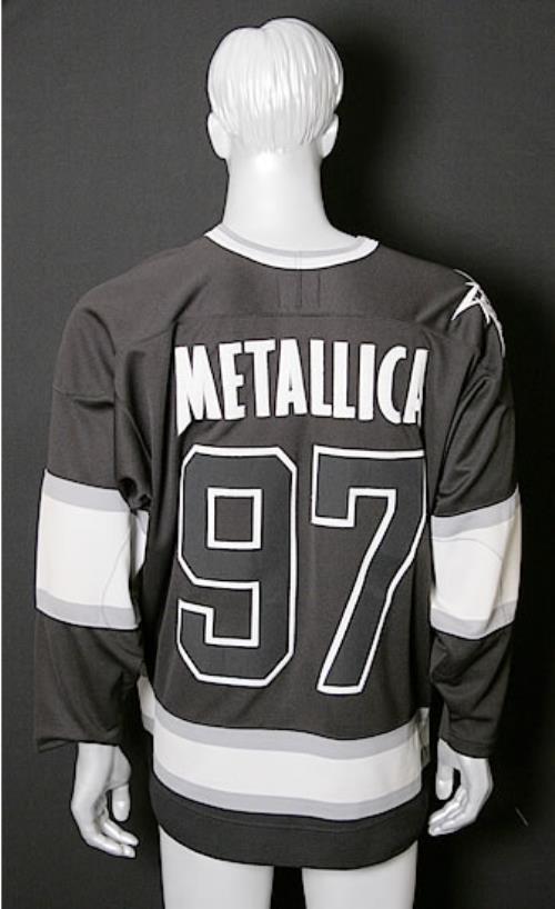 Metallica Flaming Skull Hockey Shirt clothing US METMCFL540768 dbfafe205de