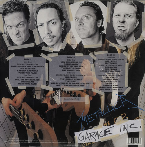 Metallica Garage Inc 140gram Uk 3 Lp Vinyl Record Set Triple