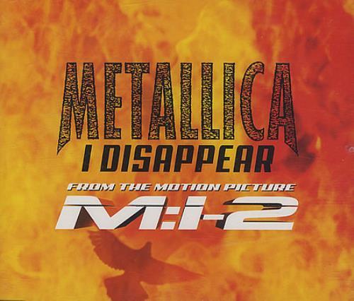 "Metallica I Disappear CD single (CD5 / 5"") German METC5ID192980"