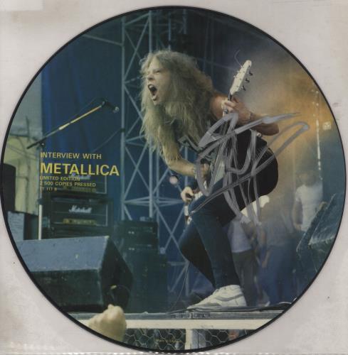 Metallica Interview With Metallica - Autographed picture disc LP (vinyl picture disc album) UK METPDIN765799