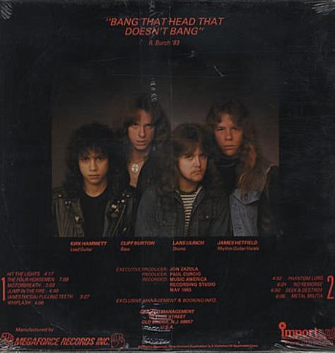 Metallica Kill 'Em All - Sealed vinyl LP album (LP record) US METLPKI324553