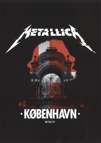 Metallica Kobenhavn - September 2017 poster UK METPOKO684332