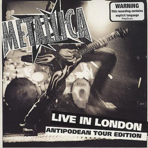 "Metallica Live In London - Card Sleeve CD single (CD5 / 5"") Australian METC5LI112249"