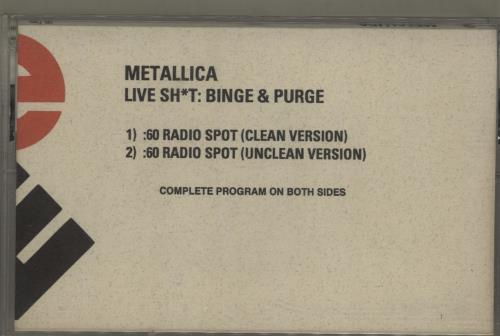 Metallica Live Sh*t: Binge & Purge cassette single US METCSLI688228