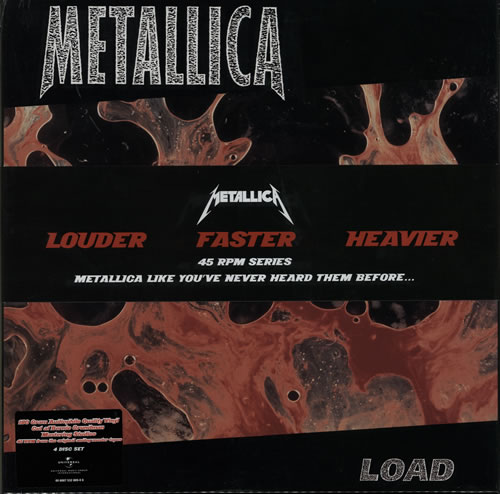 Metallica Load - Sealed 4-LP vinyl album set (4 records) UK MET4LLO512257
