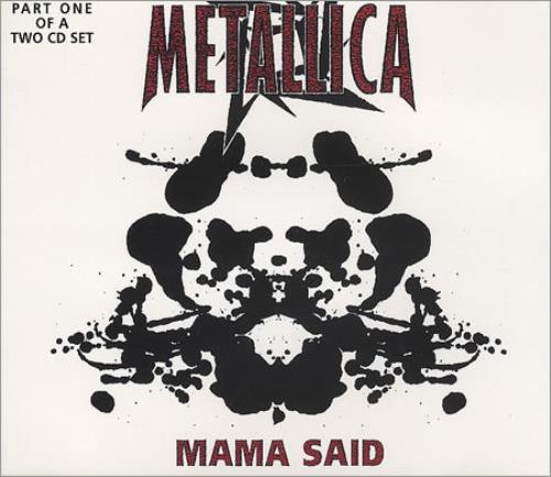 "Metallica Mama Said - Part 1 of 2-cd set CD single (CD5 / 5"") UK METC5MA164656"