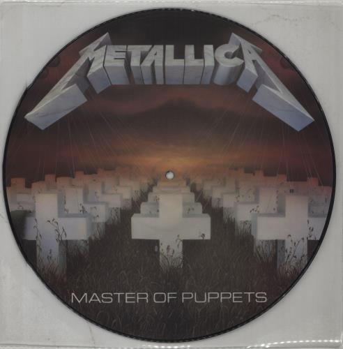 Metallica Master Of Puppets - No Barcode picture disc LP (vinyl picture disc album) UK METPDMA19565