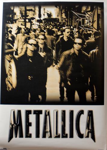 Metallica Metallica poster UK METPOME683911