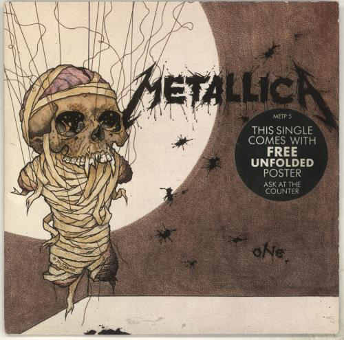 "Metallica One - Hype stickered sleeve 7"" vinyl single (7 inch record) UK MET07ON82118"