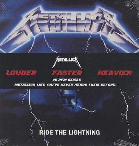 Metallica Ride The Lightning - 45 RPM Series - Sealed 2-LP vinyl record set (Double Album) UK MET2LRI436367