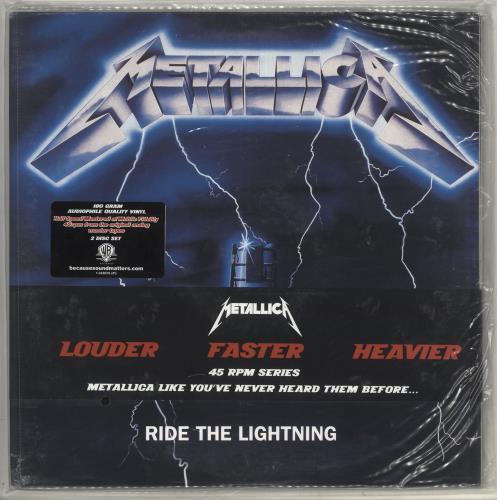 Metallica Ride The Lightning - 45 RPM Series - Sealed 2-LP vinyl record set (Double Album) US MET2LRI715874