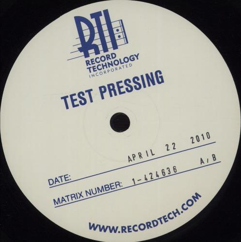 Metallica Ride The Lightning - Test Pressing 2-LP vinyl record set (Double Album) US MET2LRI670973