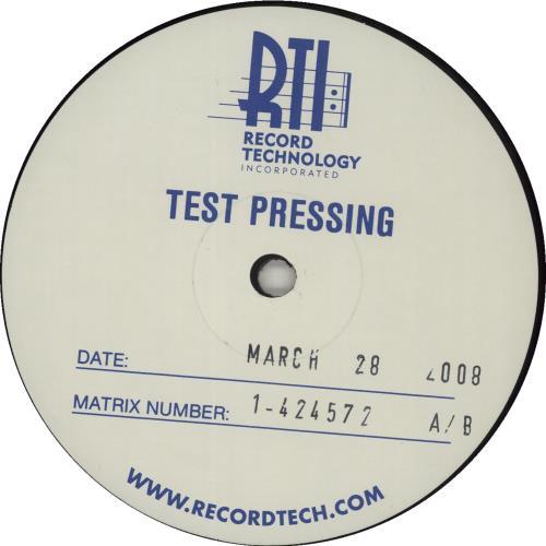 Metallica Ride The Lightning - Test Pressing vinyl LP album (LP record) US METLPRI682202