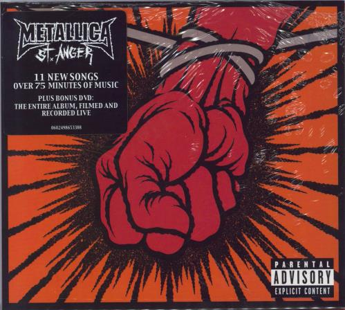 Metallica St Anger - Sealed 2-disc CD/DVD set UK MET2DST250038