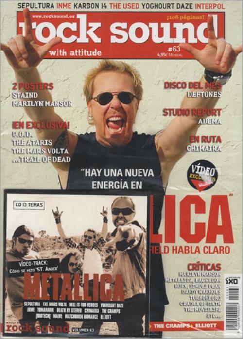 Metallica St Anger Video CD album (CDLP) Spanish METCDST274049