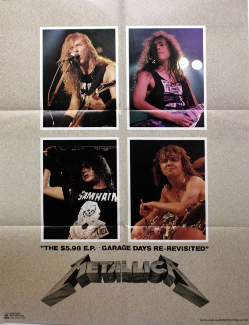 """Metallica The $5.98 E.P. - Garage Days Re-Revisited - Complete 12"""" vinyl single (12 inch record / Maxi-single) Japanese MET12TH349242"""