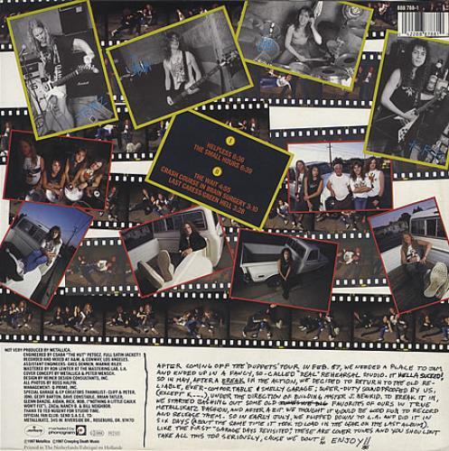 "Metallica The $5.98 E.P. Garage Days Re-Revisited 12"" vinyl single (12 inch record / Maxi-single) Dutch MET12TH220314"