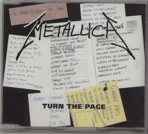 """Metallica Turn The Page CD single (CD5 / 5"""") UK METC5TU128690"""