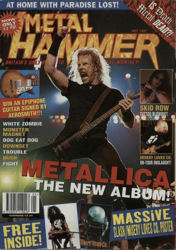 Metal Hammer Magazine Metal Hammer - May 1995 magazine UK OG3MAME653623