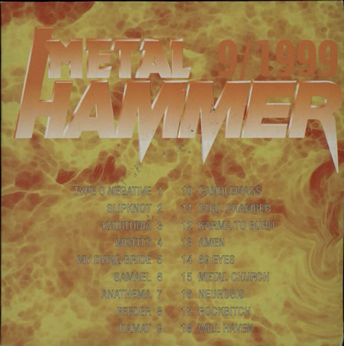 Metal Hammer Magazine Metal Hammer 9/99 CD album (CDLP) Polish OG3CDME569158