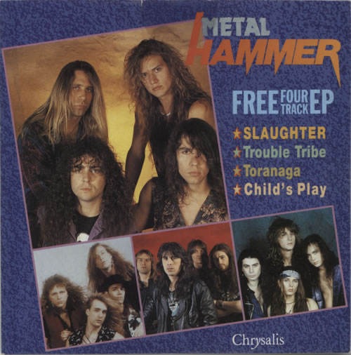 "Metal Hammer Magazine Metal Hammer Four Track EP 7"" vinyl single (7 inch record) UK OG307ME623355"