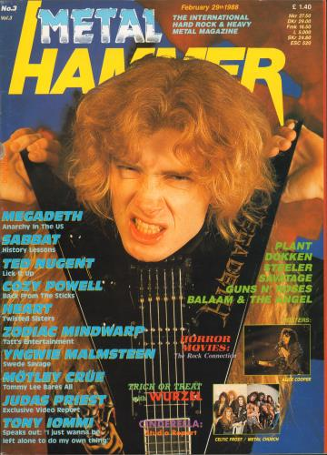 Metal Hammer Magazine Metal Hammer Vol.3 No.3 magazine UK OG3MAME659040