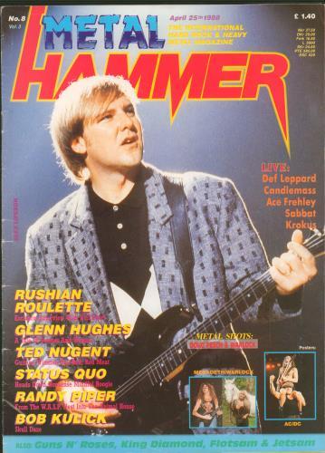 Metal Hammer Magazine Metal Hammer Vol.3 No.8 magazine UK OG3MAME659039