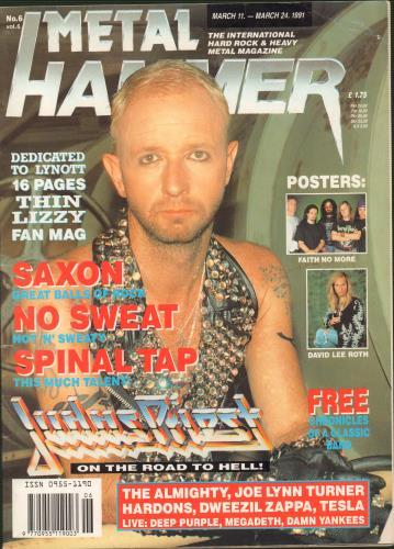 Metal Hammer Magazine Metal Hammer Vol.6 No.6 magazine UK OG3MAME659035