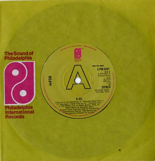 """MFSB K-Jee 7"""" vinyl single (7 inch record) UK MFB07KJ594721"""