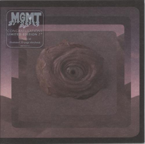 "MGMT Congratulations + Storybook Sleeve 7"" vinyl single (7 inch record) US MU607CO722141"