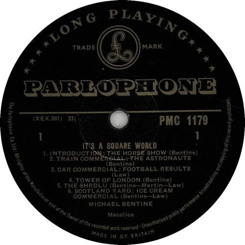 Michael Bentine It's A Square World! vinyl LP album (LP record) UK LBELPIT129842